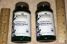 (2) Motherwort, from Swanson >>> 120 capsules (total), 400 mg each