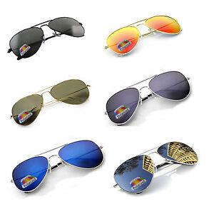 New POLARIZED Pilot Sunglasses Mens Women's UV400 Driving Glasses Mirror