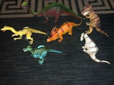(15) Kids/Toys Dinosaurs Figures, Few 1980's-90s Inc. Dor Mei/Hong Kong/Imperial
