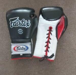 Fairtex Muay Thai Boxing Gloves BGL7 12oz Black Mexican Lace-up Leather