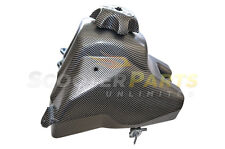 50cc Dirt Pit Bike Plastic Carbon Gas Fuel Tank w Cap For Honda CRF50 XR50 Parts