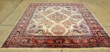 """ANTIQUE 1930's PERSIAN KAZVIN  IVORY ORIENTAL RUG SQUARE SIZE 10' 8"""" x 11' 4"""""""