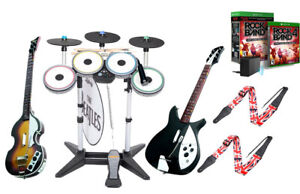 Xbox One Rock Band 4 The Beatles Drums*3X Pro-Cymbals*Hofner & Rickenbacker*Game