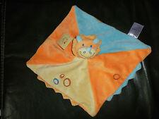 Doudou Plat Rhinocéros Orange Bleu  JOGYSTAR KIABI Kitchoun