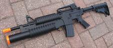Auto Electric Airsoft Gun DE M813 RIS AEG W/Tri-Shot GRENADE LAUNCHER Two In One