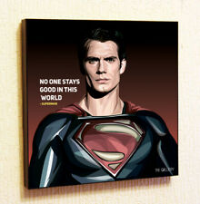 Superman 2 Marvel DC Comics decals Decor Print Wall Art Poster pop Canvas