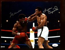 Muhammad Ali & Leon Spinks Autographed 8 X 10 Photo JSA LOA