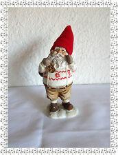 Figurine en Résine Père Noël Lutin avec son Sac et son Bonnet Rouge en Polaire