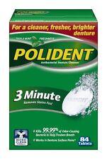 2 Pack - Polident 3 Minute Antibacterial Denture Cleanser, Tablets 84 Each