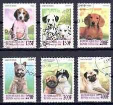 Chiens Bénin (4) série complète de 6 timbres oblitérés
