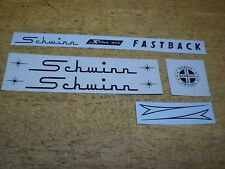 Complete Schwinn Stingray Fastback Bicycle Black Complete Decal Set
