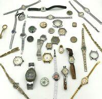 Watch PARTS LOT 30 Vintage Raketa Baltika Vostok Komandirskie Luch Zarya Glass