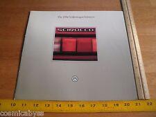 1986 Volkswagen Scirocco VW dealers brochure catalog