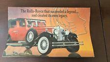 Vintage Franklin Mint 1929 Rolls-Royce Phantom I Cabriolet Diecast Ad Flyer