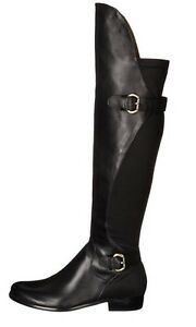 Corso Como Black Smooth Leather Boot Buckle Detail Size 8 New In Box NIB