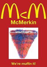 McMerkin ~ Vaguely Tartan Scottish Novelty Joke Prank Pubic Wig