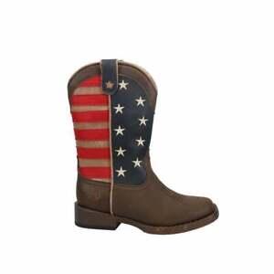 Roper American Patriotic Square Toe   -  Kids Boys  Western Cowboy Boots   Mid
