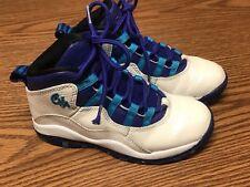 Nike 310807-107 Air Jordan Retro 10 Toddler Charlotte White Blue Toddler Sz 12C