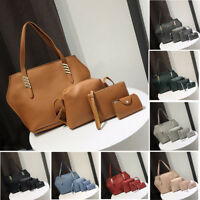 4pcs Women PU Leather Handbag Lady Shoulder Bags Tote Purse Messenger Satchel