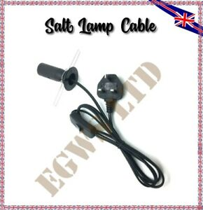 Replacement Cable for Himalayan Salt Lamp UK Plug with On-Off button 1.5m length