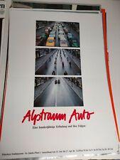 Plakat Alptraum Auto 1986 Münchner Stadtmuseum DIN A1 Original TOP!
