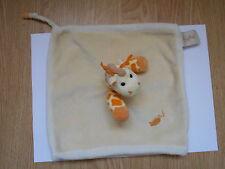 DOUDOU plat carré Girafe beige jaune BABY NAT' babynat orange