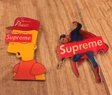 Supreme Superman Bart Pin Badge Button 4 Lanyard Hoodie Backpack Headband Hat