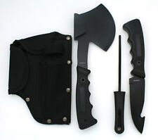 Snake Eye Tactical Heavy Duty 4PC Big Game Hunting Knife Set Camping Fishing BLK