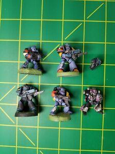 Rogue Trader Space Marines. 4 Plastic. 1 Metal. Brother Blake.