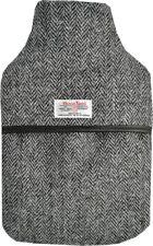 100% Pure Wool Herringbone Harris Tweed 2L Hot Water Bottle with Padded Cover