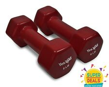 Yes4All Dumbbells PVC Hand Weights 6 lbs Set Dumbbell Exercise - ²3LN4E2