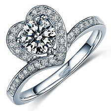 3.58ctD-G-Color vvs1 WHITE SIMULATED DIAMOND 925 Sterling SILVER Engagement RING