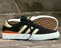 adidas Originals Busenitz Vulc II Shoes Black / Gold / Red Suede Trainers