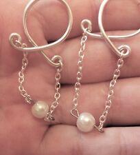 Erotic Jewelry Dangle Nipple Ring Body Jewelry Non Piercing Nipple Ring pearl UK