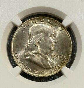 1957-D Franklin 50c Half Dollar NGC MS66  ~~ (010)