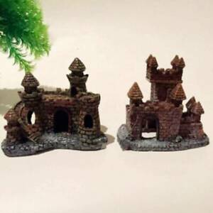 Aquarium Ornament Resin Ancient Castle Fish Tank Decoration KY