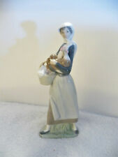 Lladró Girl With Cockerel Rooster & Basket #4591 Retired - Original Box - Mint