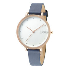 Skagen Hagen SKW7207 Women's 34mm White Dial Leather Watch