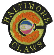 """1975-76 Baltimore Claws Aba Basketball Hardwood Classics 5.25"""" Chenille Patch"""