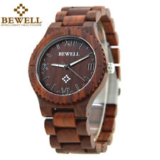 Colorful  Wood Watch for Men Wooden Strap Male Timepieces Quartz Wrist  Watches