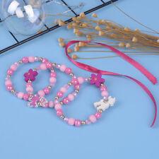 1 Set/3Pcs Cartoon sheep wood beads girls jewelry set kids children bracelet