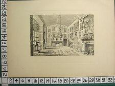 1885 PRINT STRATFORD-ON-AVON ~ THE GREAT HALL OF CHARLECOTE