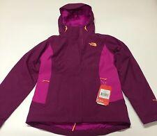 NWT Northface Womens Claremont Triclimate Jacket Dramatic plum/Luminous Size S