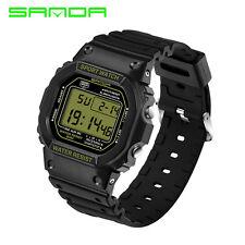 Sanda Waterproof Men Women Couple LED Digital Date Sports Quartz Wrist Watches