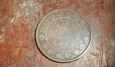 CANADA 1876 H QUEEN VICTORIA  LARGE CENT COIN