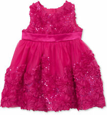 12 or 24 Months Rare Editions Fuchsia Turquoise Flower Skirted Crawler  3-6M