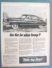 Original 1950 Buick Super Dynaflow 4 Door Car Ad GET SET FOR WHAT BUMP?
