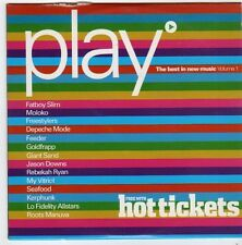 (FI547) Play, The Best in New Music Vol 1 - 2001 Hot Tickets CD