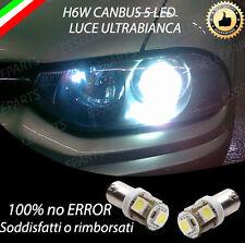 COPPIA LUCI POSIZIONE 5 LED H6W PER ALFA ROMEO 156 1° SERIE CANBUS NO ERROR