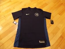 Large L Nike Mens Short Sleeve Shirt Blue NBA Minnesota Timberwolves  877450-419 3c5f8684a